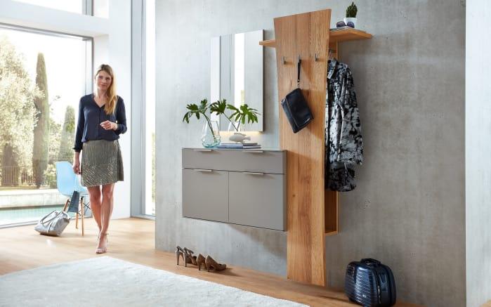 garderobenkombination salerno in lack fango balkeneiche. Black Bedroom Furniture Sets. Home Design Ideas
