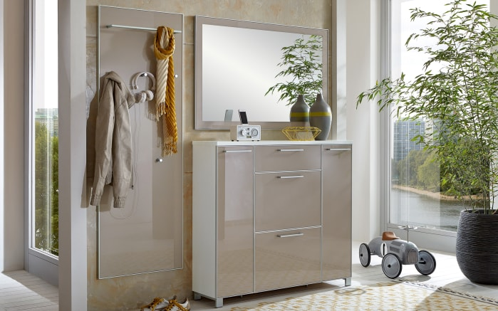 dielen garderobe santina in taupe wei online bei hardeck kaufen. Black Bedroom Furniture Sets. Home Design Ideas