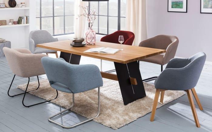 Stuhlgruppe charly aladin in eiche natur online bei for Moderner esszimmerstuhl