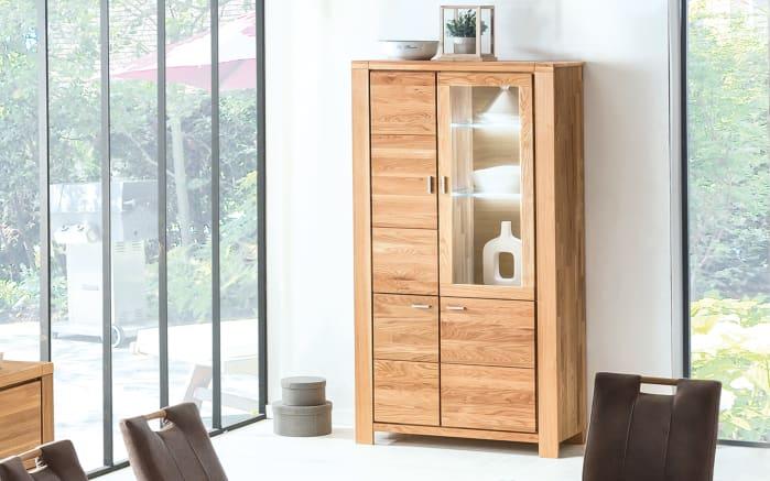 vitrinenschrank bern in eiche natur ge lt online bei hardeck kaufen. Black Bedroom Furniture Sets. Home Design Ideas