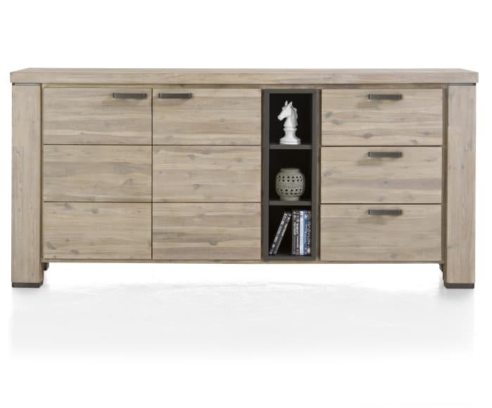sideboard coiba in akazie tibet grey massiv online bei. Black Bedroom Furniture Sets. Home Design Ideas