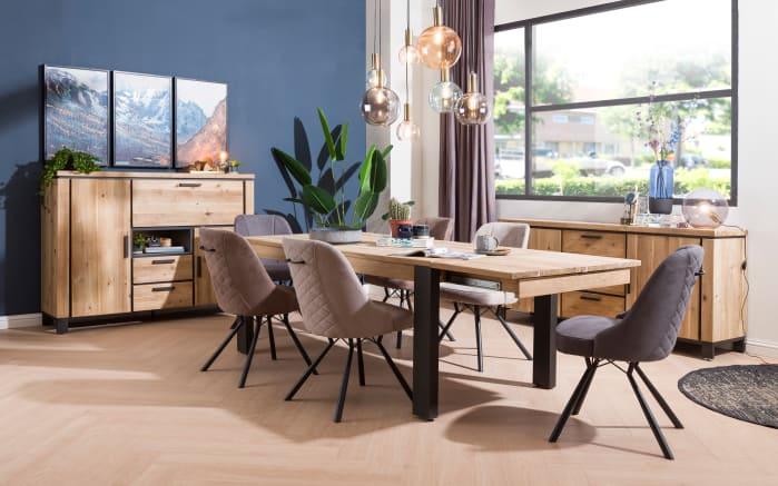 stuhlgruppe la cruz aus akazie tramwood smoked online bei hardeck kaufen. Black Bedroom Furniture Sets. Home Design Ideas