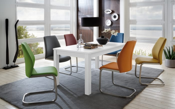 Stuhlgruppe in bunt/weiß