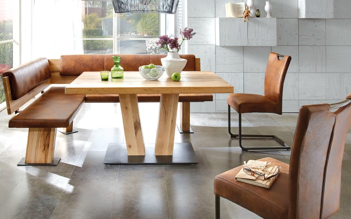eckbankgruppe scarlet in maron balkeneiche massiv online bei hardeck kaufen. Black Bedroom Furniture Sets. Home Design Ideas