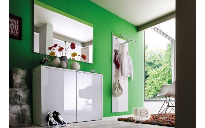 Garderobenkombination Gloss in weiß/grasgrün