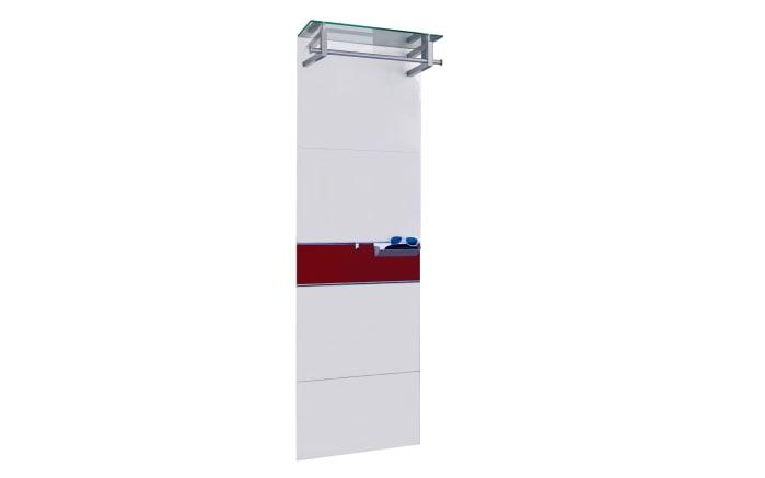 Garderobenpaneel Gloss in weiß/weinrot