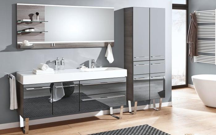 bad einrichtung leo living bad 109 in graphit glas metallic online bei hardeck entdecken. Black Bedroom Furniture Sets. Home Design Ideas