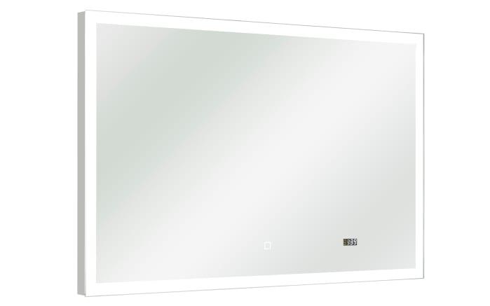 Flächenspiegel Balu inklusive LED-Beleuchtung mit Touchsensor und Uhr