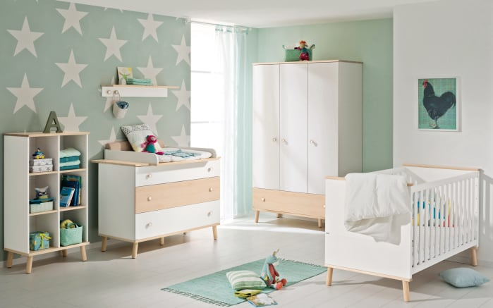 babyzimmer ylvie in kreidewei birke optik online bei hardeck kaufen. Black Bedroom Furniture Sets. Home Design Ideas