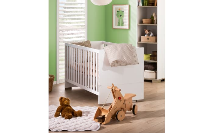 Kinderbett carlo in kreidewei fichte vintage optik online for Kinderzimmer carlo
