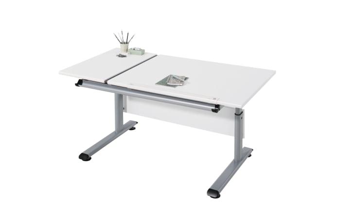 Schreibtisch Marco 2 GT in weiß/silber