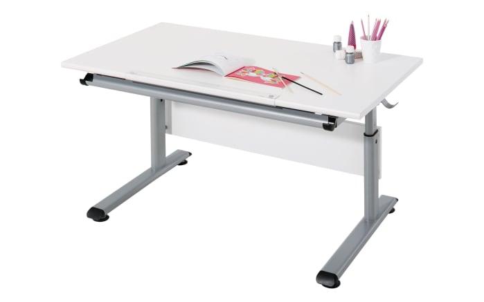 Schreibtisch Marco 2 in weiß/silber