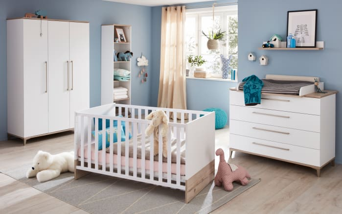 babyzimmer katrin in kreidewei fichte vintage optik online bei hardeck kaufen. Black Bedroom Furniture Sets. Home Design Ideas