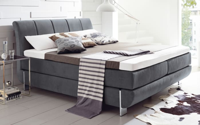 boxspringbett ronda romina in grau online bei hardeck kaufen. Black Bedroom Furniture Sets. Home Design Ideas
