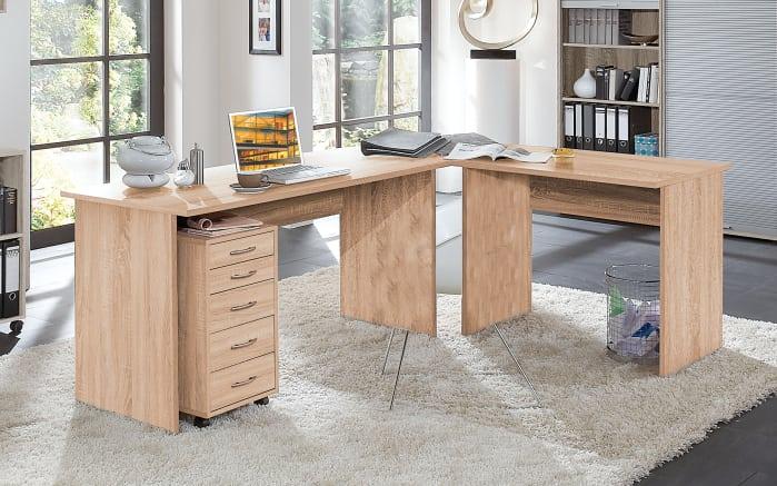 Winkel-Schreibtisch in Eiche-Optik