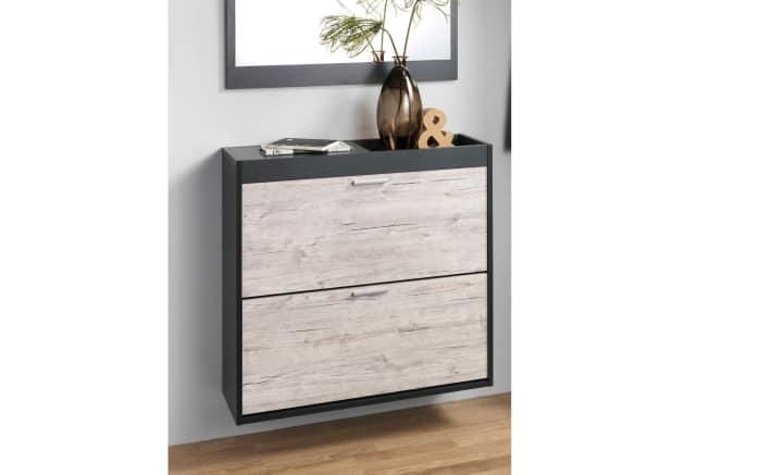 schuhschrank outfit 1 in anthrazit sandeiche nachbildung online bei hardeck entdecken. Black Bedroom Furniture Sets. Home Design Ideas