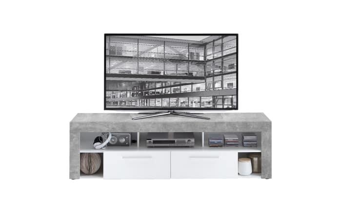 tv lowboard vibio 2 betonoptik wei online bei hardeck. Black Bedroom Furniture Sets. Home Design Ideas