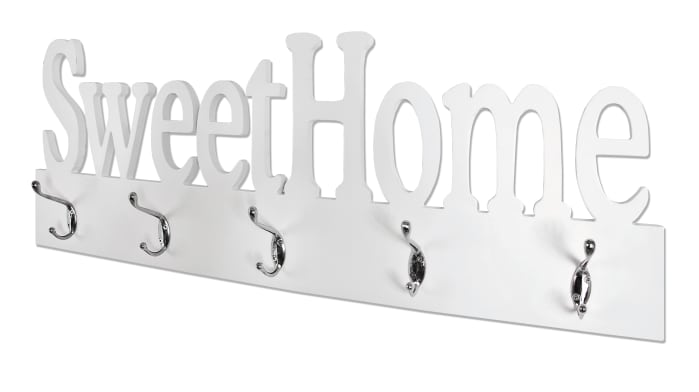 Garderobenleiste Sweet Home in weiß