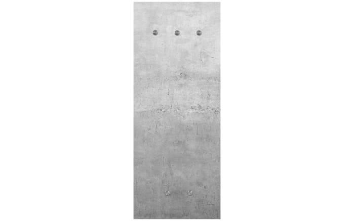 Glasgarderobe mit Betonmotiv, 50 x 125 cm