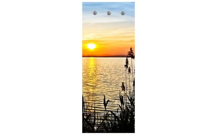 Glasgarderobe mit Sonnenmotiv, 50 x 125 cm