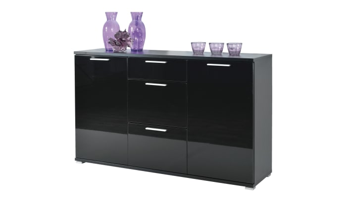 Sideboard in schwarz hochglanz