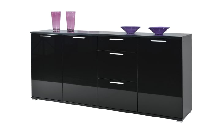 sideboard in schwarz hochglanz online bei hardeck kaufen. Black Bedroom Furniture Sets. Home Design Ideas
