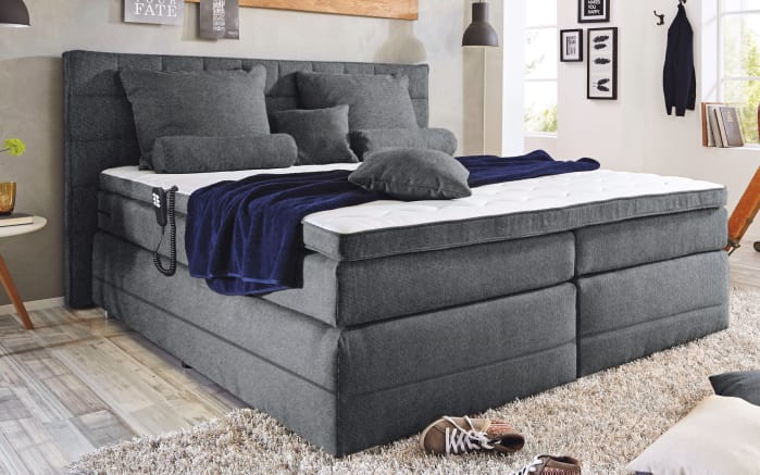 motor boxspringbett idaho 1 in grau online bei hardeck kaufen. Black Bedroom Furniture Sets. Home Design Ideas