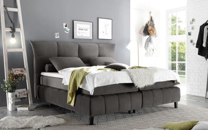 boxspringbett kailua 3 in steel online bei hardeck kaufen. Black Bedroom Furniture Sets. Home Design Ideas