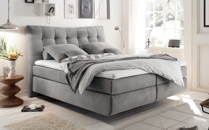 Boxspringbett Malibu 2 in light grey
