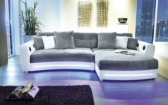 wohnlandschaft laredo wei grau online bei hardeck kaufen. Black Bedroom Furniture Sets. Home Design Ideas