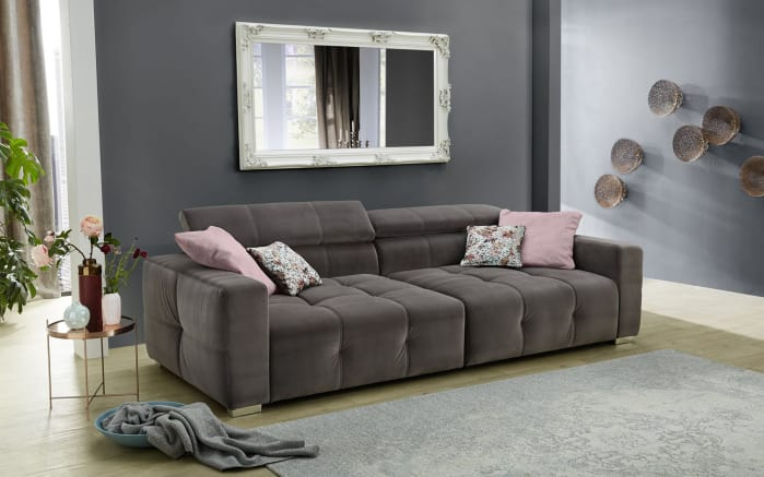big sofa trento in grau online bei hardeck kaufen. Black Bedroom Furniture Sets. Home Design Ideas
