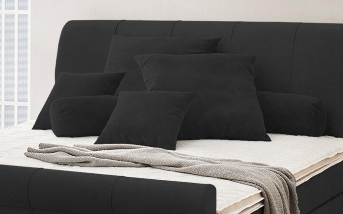 Kissenset in schwarz, 6-teilig