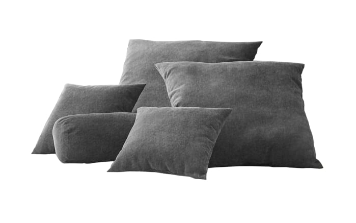 Kissenset in grau, 6-teilig