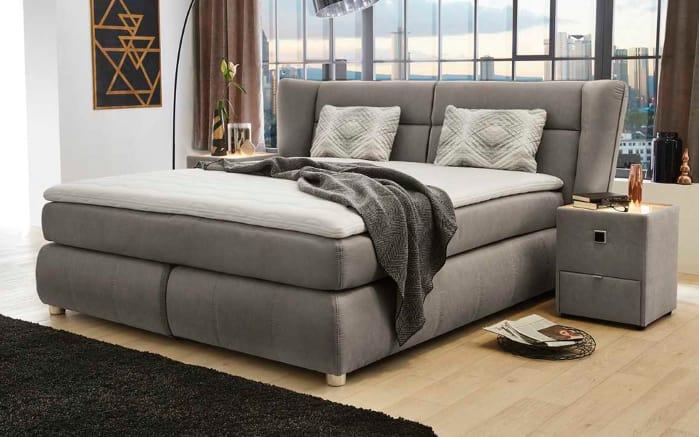 boxspringbett florentine in grau online bei hardeck kaufen. Black Bedroom Furniture Sets. Home Design Ideas