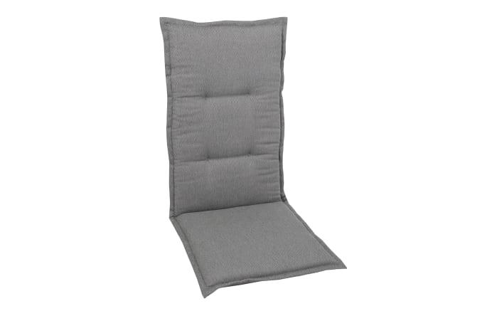 Garten-Sesselauflage in grau, Hochlehner