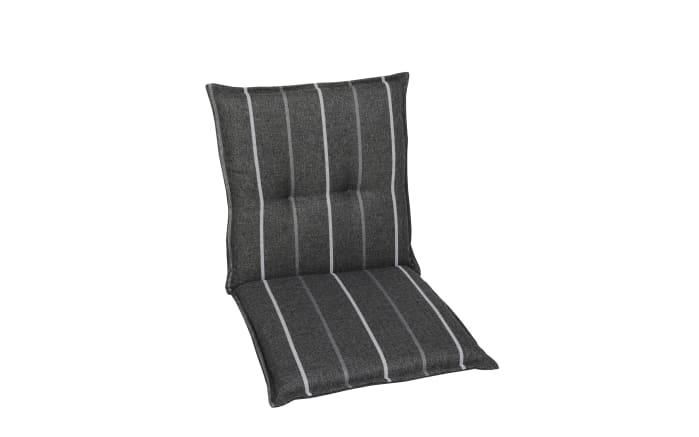 Garten-Sesselauflage 23524-02 in grau gestreift, Niederlehner