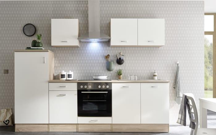 Küchenblock Andy in weiß/Sonoma-Eiche-Nachbildung