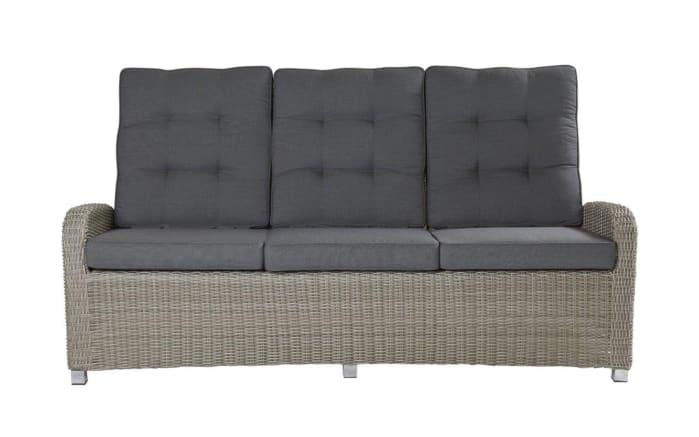 Garten-Sofa Bilbao in stone grey, manuelle Rückenverstellung