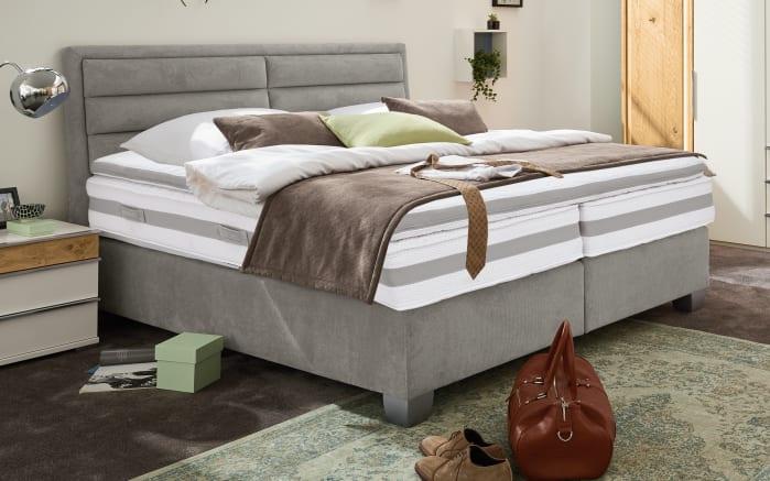 boxspringbett felina basic in grau online bei hardeck kaufen. Black Bedroom Furniture Sets. Home Design Ideas