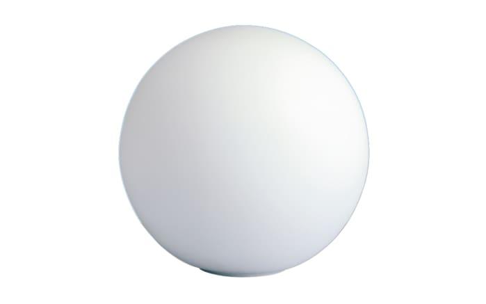Tischleuchte Glaskugel in weiß, Ø 25 cm