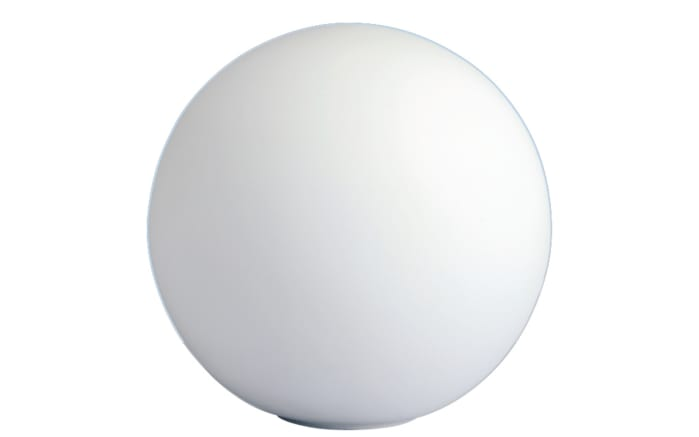 Tischleuchte Glaskugel in weiß, 25 cm