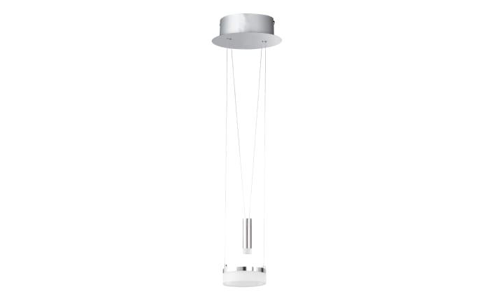 LED-Pendelleuchte Jesse in chromfarbig, 18 cm