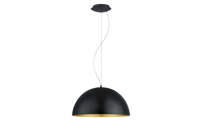 Pendelleuchte Gaetano 1 in schwarz, 53 cm