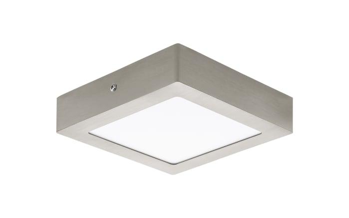 LED-Ein-/Aufbauleuchte Fueva 1 in nickel matt / 10,9 W, 17 x 17 cm
