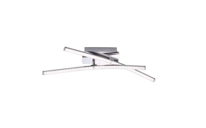 LED-Deckenleuchte Simon in nickel matt, 80 x 80 cm