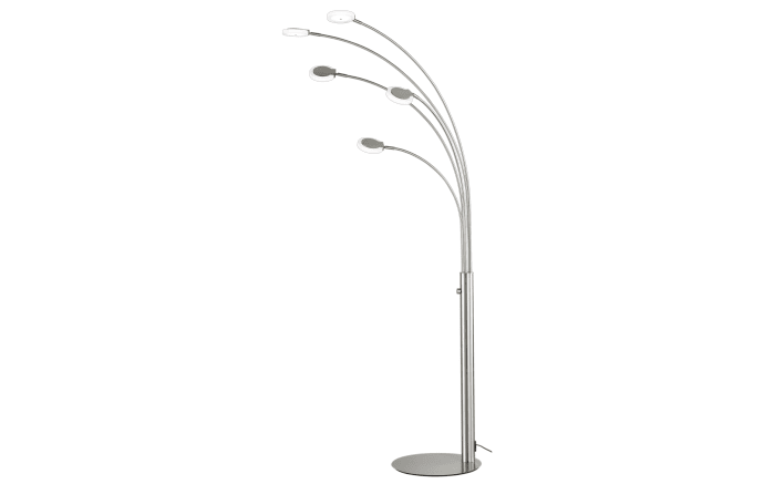 LED-Standleuchte in nickel matt