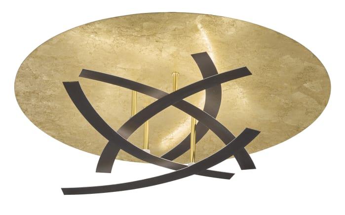 LED-Deckenleuchte Spacy in Blattgold-Optik, 60 cm