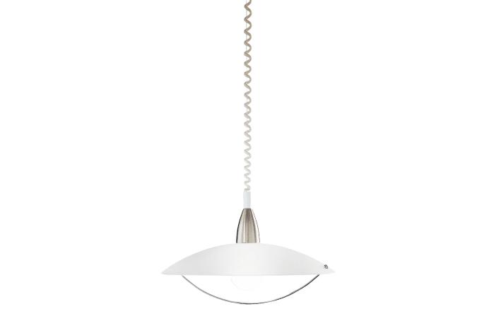 Pendelleuchte Savona in nickel matt/weiß, 50 cm