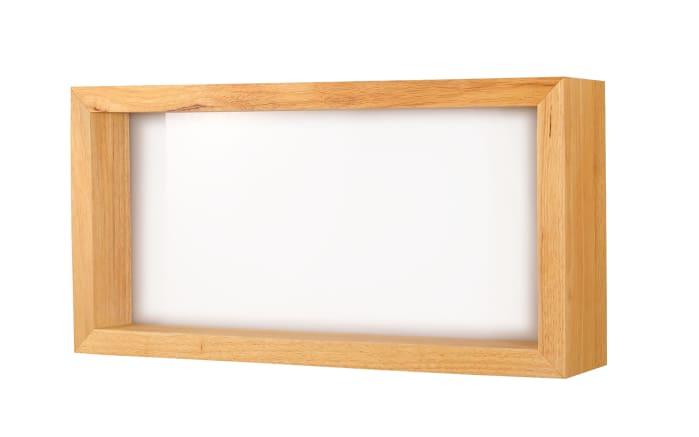 LED-Wandleuchte Window mit Eichenholz