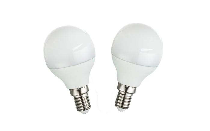 LED-Leuchtmittel Tropfen 3 W / E14, 2-er Pack